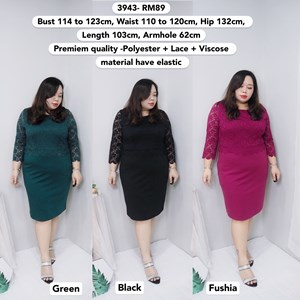 3943  Ready Stock *Bust 114 to 123cm