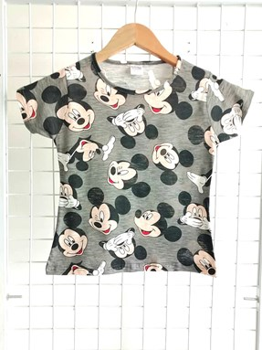T-Shirt Short Sleeve MICKEY GREY: Size 1y-8y (1 - 8 tahun) KW