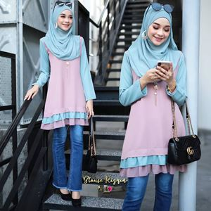 BLOUSE RIZQIN - DUSTYPINK TIFFANY