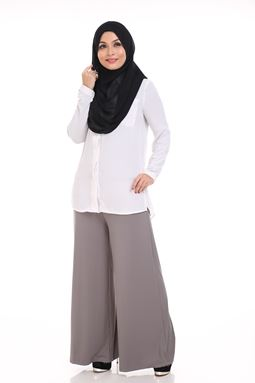Palazzo (LIGHT GREY) Maternity Friendly with Adjustable Waistband.