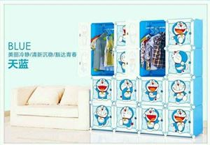 Doraemon DIY 16 Cube Wardrobe+ Corner Shelf