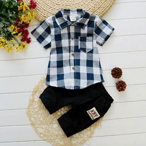 BB279-10   BOY SET 3  { CREAKER BLACK WHITE )  80-110
