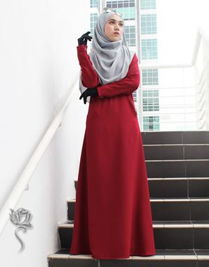 LE HAJA DRESS - MAROON