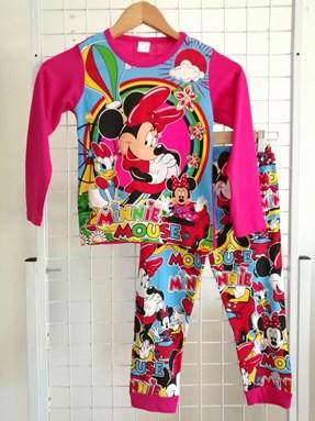 Pyjamas  Long Sleeve MINNIE DAISY CLUB HOUSE Pink TAG 2, 4