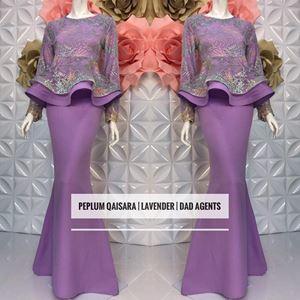 Peplum Qaisara Lavender