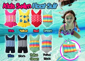 Kids SwimFloat Suit (XL - GREEN)
