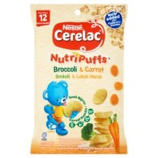 Nestlé Cerelac NutriPuffs Broccoli & Carrot Cereal Snacks from 12 Months 25g