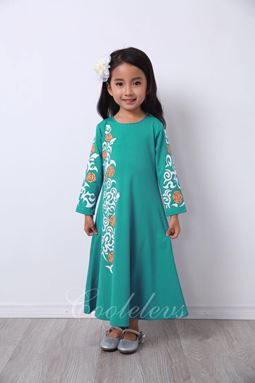 @  2017 COOL ELVES JUBAH RAYA SET A  ( TURQUOISE )  SIZE 2-12