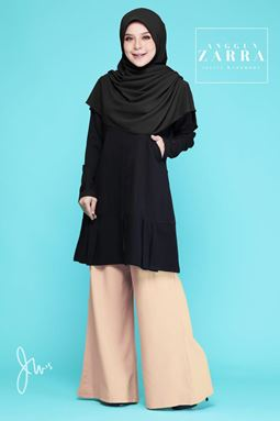 BLOUSE ANGGUN ZARRA ( BLACK )