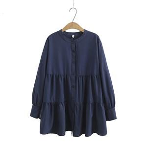 Tiered Blouse (Dark Blue)