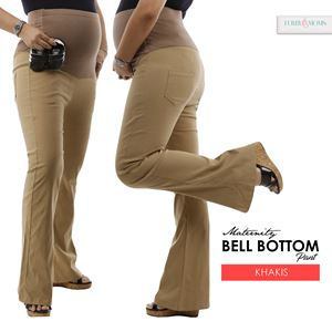 Maternity Bell Bottom Pant Mi - Dark Khaki