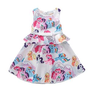 WHITE LITTLE PONY PRINCESS DRESS