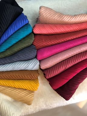 SHAWL COTTON FULL PLEATED