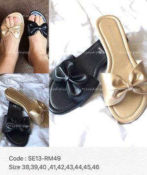 SE13 * Ready Stock Size 42, 43 *Colour : Black, Light Gold