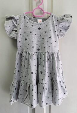 Princess Dress : Design Grey Star, size 2-4, 6-8