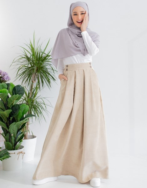 ALICE CORDUROY SKIRT IN SAND
