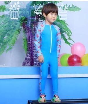 S1120117P BLUE CHILDREN SWIMSUIT ( 3Y-8Y )