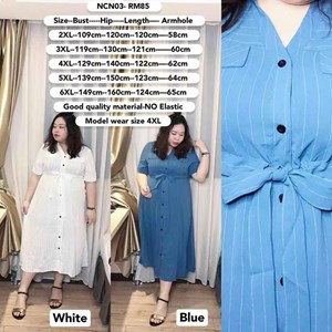 NCN03  *Ready Stock *Bust 43 to 58 inch/ 109-149cm