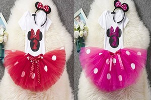 @ T00196 - H1/M1    2Year Old Baby Birthday ClotheS ( RED / PINK  )