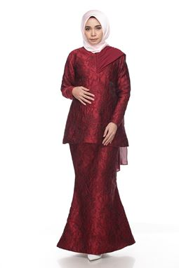 Sri Ledanng Kurung Exclusive - Maroon