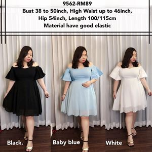 9562 Ready Stock *Bust 38 to 50 inch/ 96-127cm