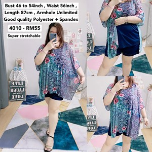 4010 *Bust 46 to 54 inch/ 117 - 137cm