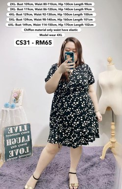 CS31 Ready Stock*Bust 43 to 59 inch/ 109-149cm