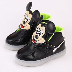 MICKEY LIGHT UP SHOES BLACK COLOUR