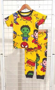 BABY 6M Pyjamas MINI AVENGERS BOOM YELLOW (HELAL)