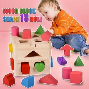 WOOD BLOCK SHAPE 13 HOLE