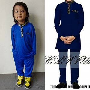 Kurta SONGKET BLUE for BOY