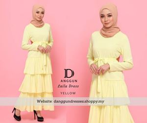 Laila Dress Yellow