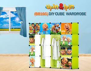 NEW Upin & Ipin GREEN 16C DIY Cube Wardrobe (BB16G)