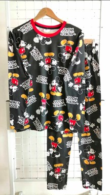 Pyjamas MICKEY MOUSE BLACK : Size DEWASA 2XL-3XL (HF)