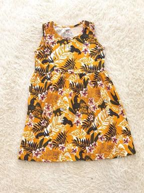 Kids Dress TROPICAL GARDEN YELLOW : (1y - 6y) TW