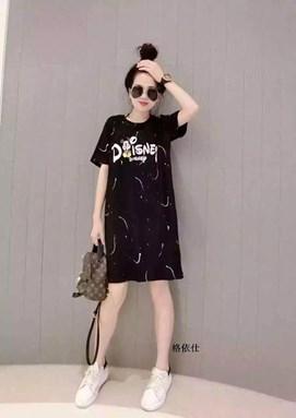 @  DISNEY BLACK MICKEY DRESS  ( SIZE S-5XL )