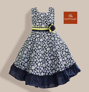 @  WS-ZF201524-005 ZOE FLOWER DRESS (sz6-10)
