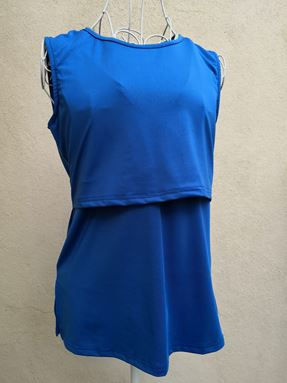 *Milk Silk* Sleeveless Nursing Inner (Royal Blue) Size Regular