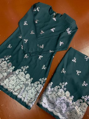 Kurung Seroja (Emerald Green)
