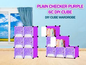 Plain Purple 6C DIY WARDROBE (PP6)