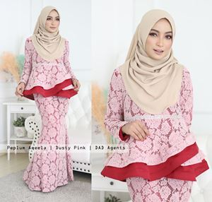 Peplum Aqeela Lace Dusty Pink