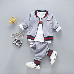 KOREAN BOY SET 12 ( 3pcs set Jacket+Long Sleeves Shirt+Pants)