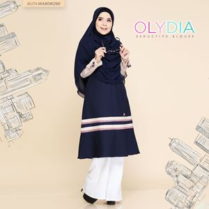 OLYDIA  SEDUCTIVE BLOUSE (DARK BLUE)