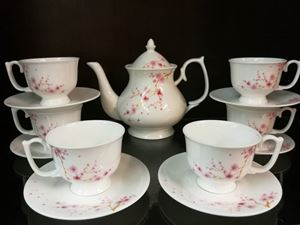 14PCS TEA SET F31 (CHERRY BLOSSOM)