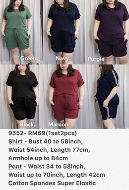 9552 Ready Stock *Bust 40 to 58 inch/ 101-147cm