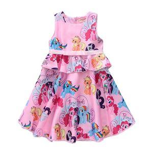 LITTLE PONY PINK  DRESS  ( SIZE 100-140 )