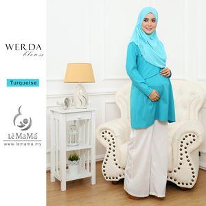Werda Blouse : Turquoise