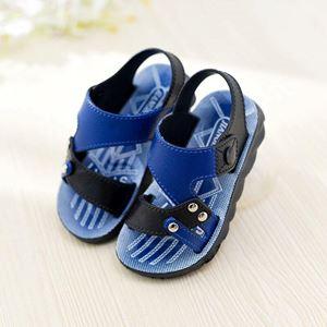 BB54 ( 3 )  KIDS SANDALS ( BLUE )