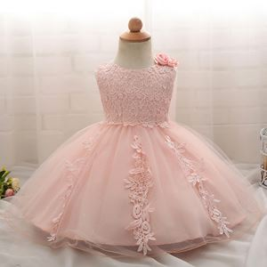 PEACH KEESYA LACE BABY BALL GOWN