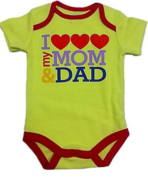 Wording Rompers - I Love My Mom & Dad